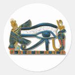 Ojo de Horus Pegatina Redonda