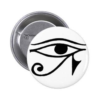 Ojo de Horus Pin Redondo De 2 Pulgadas