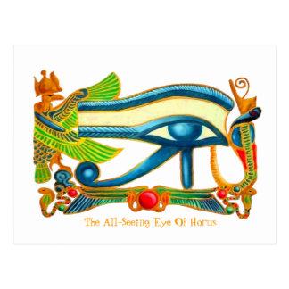 Ojo de Horus que vigila usted la postal