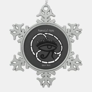 Ojo de Horus (Sillohette) Adorno De Peltre En Forma De Copo De Nieve
