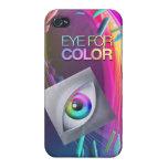 ojo de iPhone4/4s para el caso básico del color iPhone 4 Carcasa