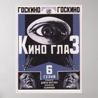 Ojo de Kino por la película 1924 de Dziga Vertov U Poster