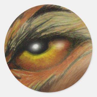 Ojo de la bestia etiqueta redonda