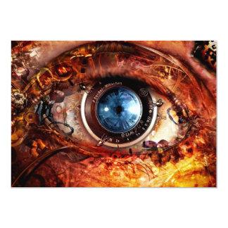 """Ojo de la cámara de Steampunk Invitación 5"""" X 7"""""""