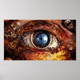 Ojo de la cámara de Steampunk Posters