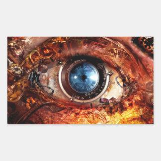 Ojo de la cámara de Steampunk Pegatina Rectangular