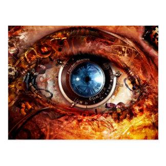 Ojo de la cámara de Steampunk Postales