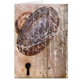 Ojo de la cerradura del vintage tarjeta de felicitación