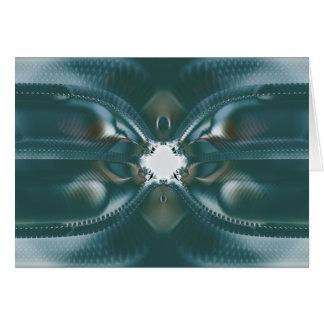 ojo de la cerradura ligero del futuro tarjeta de felicitación