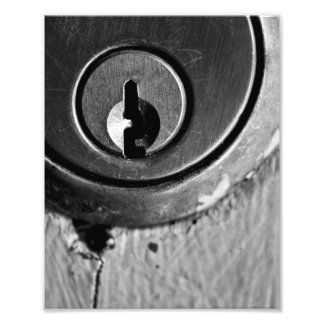 Ojo de la cerradura macro fotografía
