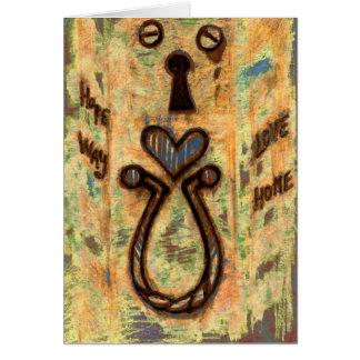 Ojo de la cerradura y corazón tarjeta de felicitación