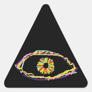 Ojo de la cinta pegatina triangular