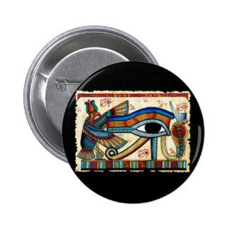 OJO de la colección de HORUS Pin Redondo De 2 Pulgadas