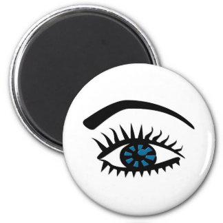 Ojo de la diva imán redondo 5 cm