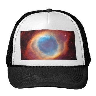 Ojo de la foto azul roja del espacio de la gorra