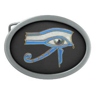 Ojo de la hebilla egipcia antigua del arte de hebillas de cinturon ovales