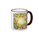 Ojo de la hiedra del arco iris taza de café