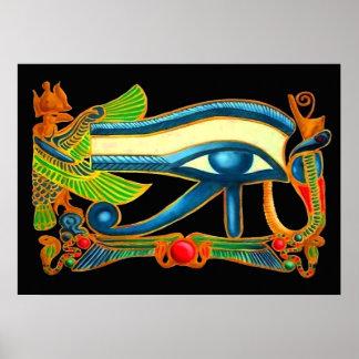 Ojo de la impresión del poster de Horus