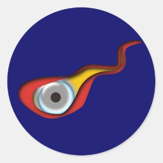 Ojo de la llama de Flamme Auge Etiquetas