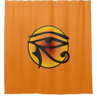Ojo de la luna de Horus - coloreado + su backgr. y Cortina De Baño