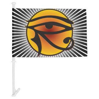 Ojo de la luna del símbolo de Horus + su fondo