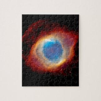 Ojo de la nebulosa de la hélice de dios puzzle con fotos