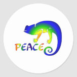 Ojo de la paz del Newt Etiquetas Redondas