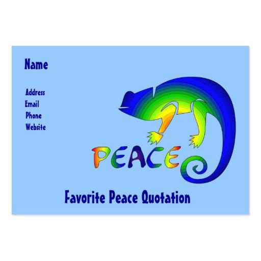 Ojo de la paz del Newt Tarjetas De Visita Grandes