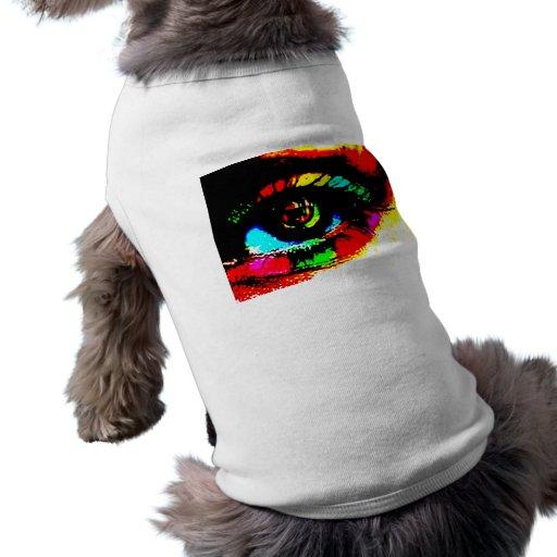 Ojo de la pintada de Digitaces Camiseta De Perrito