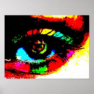 Ojo de la pintada de Digitaces Póster