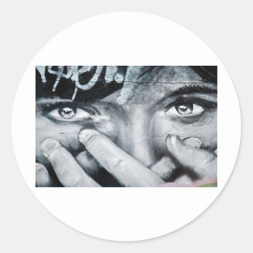 Ojo de la pintada pegatinas