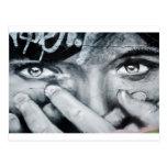 Ojo de la pintada tarjeta postal