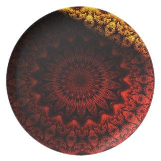 Ojo de la placa de la iguana platos para fiestas