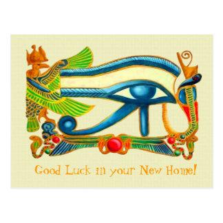 Ojo de la postal de la buena suerte de Horus