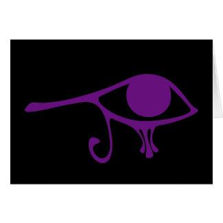 Ojo de la púrpura real de Horus Tarjeta De Felicitación