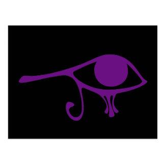 Ojo de la púrpura real de Horus Tarjetas Postales