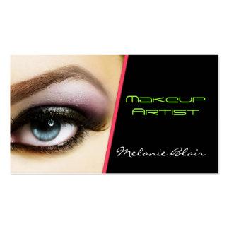 Ojo de la tarjeta de visita del artista de maquill