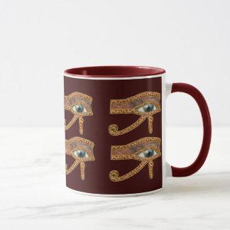 Ojo de la taza egipcia del arte de Horus Wadjet