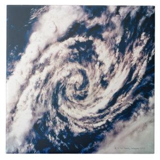 Ojo de la tormenta azulejo cuadrado grande