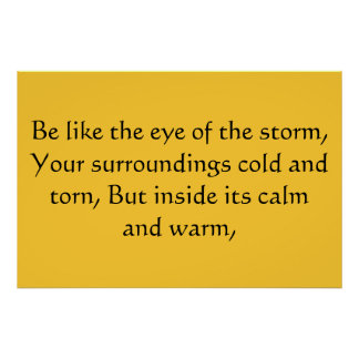 Ojo de la tormenta póster
