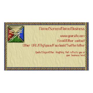 Ojo de las tarjetas de la introducción de Horus Tarjeta De Visita