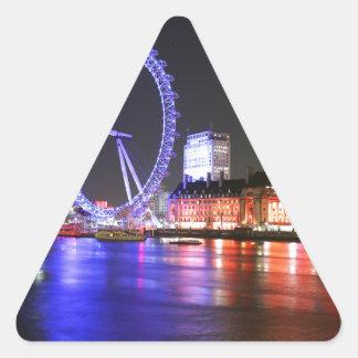 Ojo de Londres en la noche Pegatina Triangular