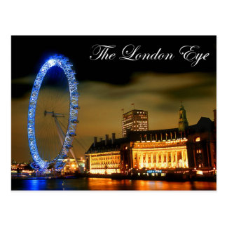 Ojo de Londres en la noche Postal