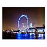 Ojo de Londres en la postal de la noche