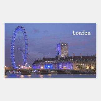 Ojo de Londres Pegatina Rectangular