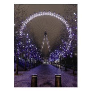 Ojo de Londres por la postal de la noche