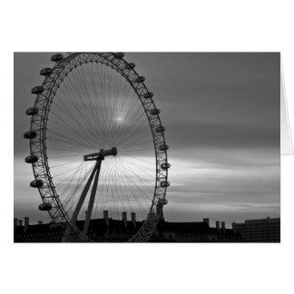 Ojo de Londres Tarjeta De Felicitación