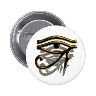 Ojo de los botones de Horus Pin Redondo De 2 Pulgadas