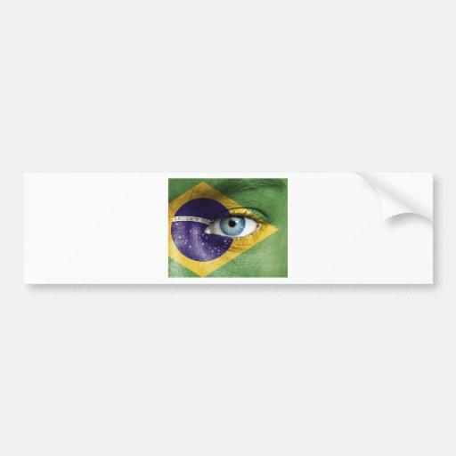 ojo de los brazils pegatina para auto