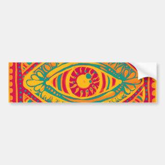 Ojo de los gitanos del ánimo anaranjado etiqueta de parachoque